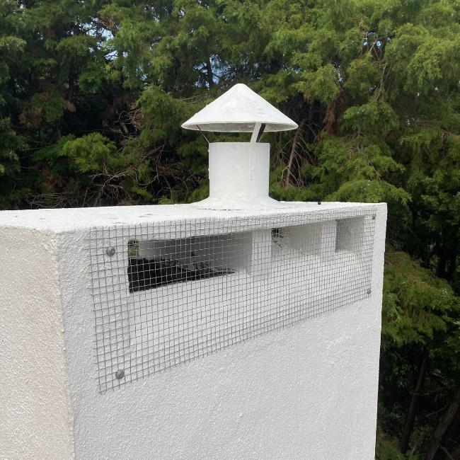 colocação de redes anti-pássaros